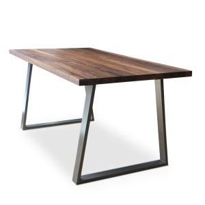 Cairo Solid Walnut Dining Table angle