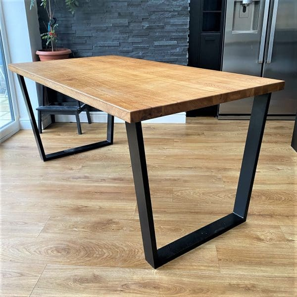 Gothenburg Solid Oak Industrial Dining Table A