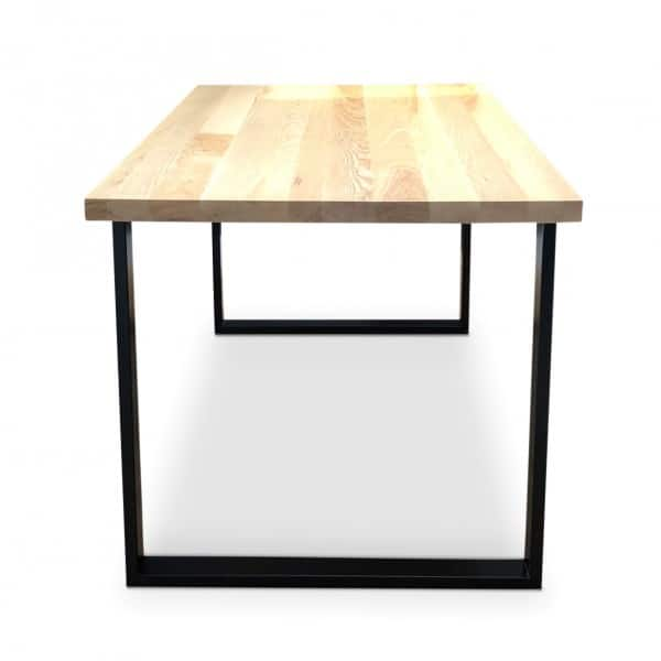 BOX Black Solid Ash Dining Table Front