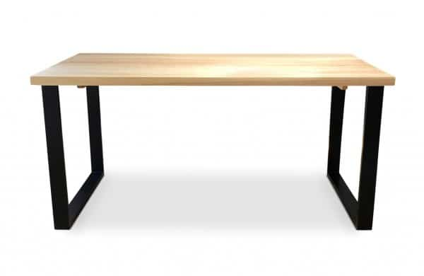 BOX Black Solid Ash Dining Table Front side