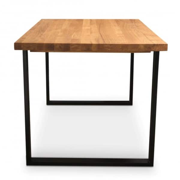 BOX Solid Oak Industrial Dining Table - Black