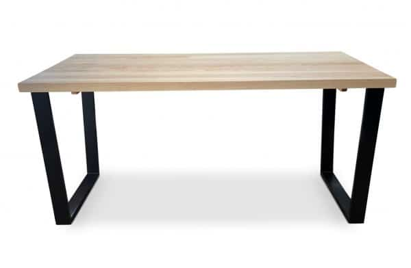 Black Clear Gothenburg Solid Ash Dining Table side