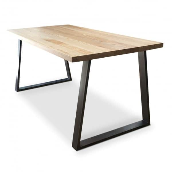 Cairo Clear solid Ash dining table angle