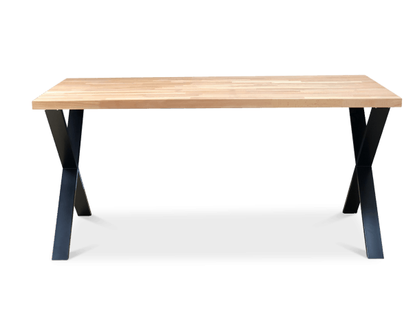 Cross Solid Beech Wood Dining Table Black