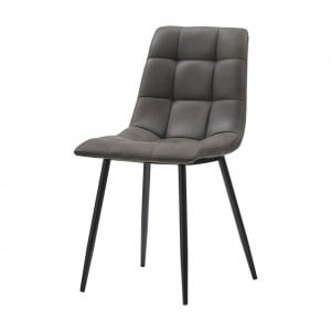 Manhattan Faux Leather Grey Dining Chair v2