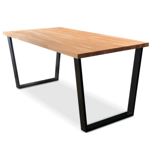 Gothenburg Solid Beech Wood Industrial Dining Table - Black
