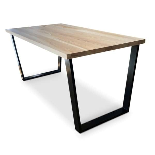 black Gothenburg Solid Ash Dining Table angle