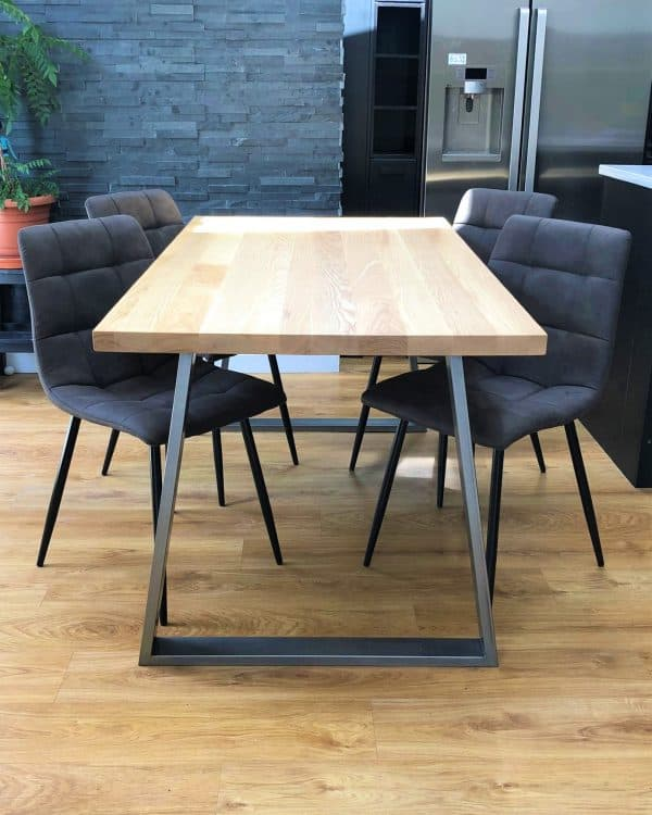 Solid Ash Dining Table Set w 4 chairs
