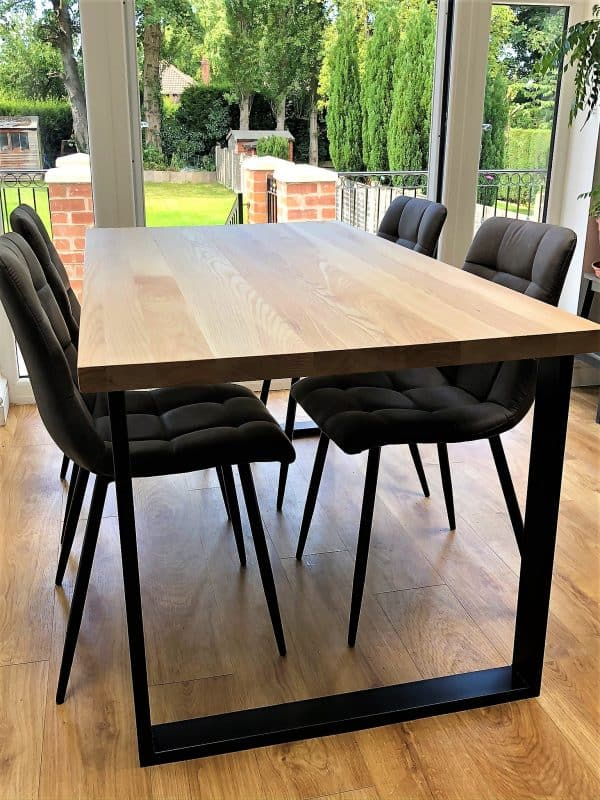 BOX Solid Ash Dining Table Set w 4 chairs
