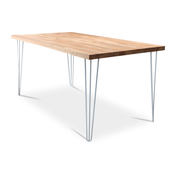 Beech White Hairpin Dining Table