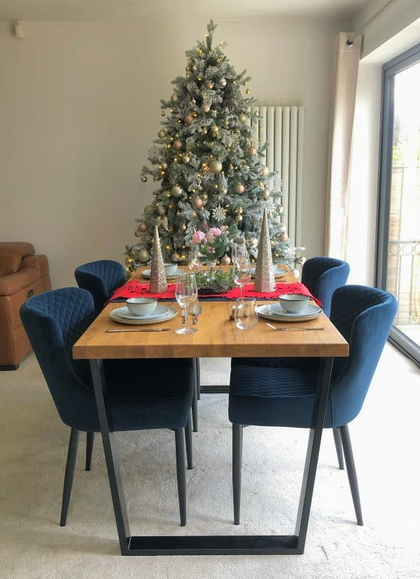 Christmas Solid Oak Dining Table
